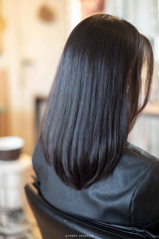 艶やかで弾力のある髪の毛