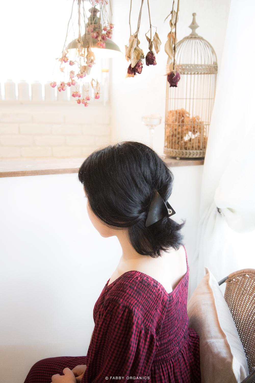 ノスタルジーボブの簡単まとめ髪